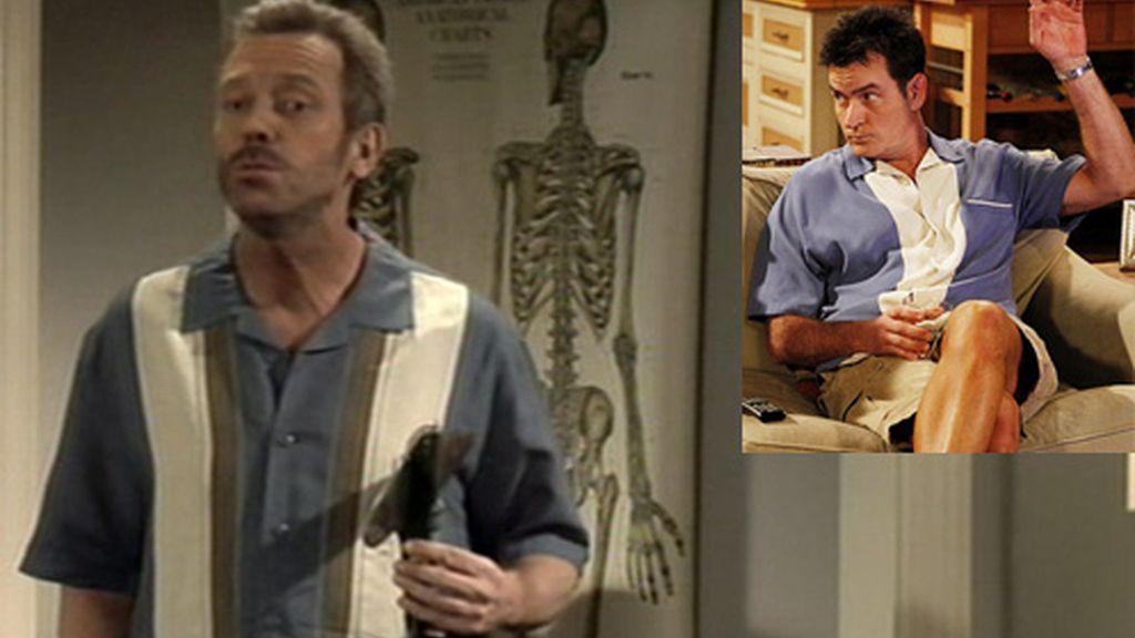 House, igualito a Charlie Sheen en 'Dos hombres y medio'