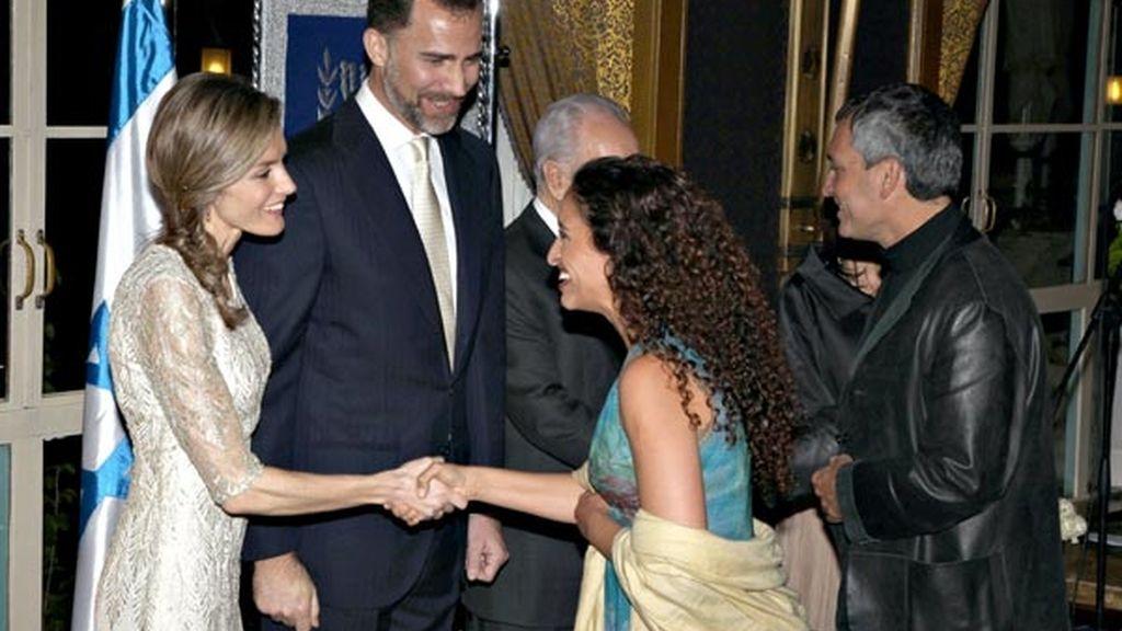 Con la cantante israelí Noa