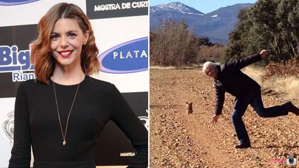 Manuela Velasco no se ha olvidado de felicitar a su padre