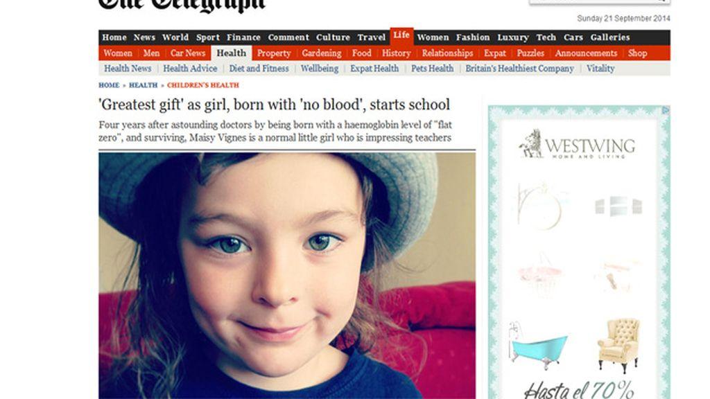 La historia de la niña que nació sin sangre en las venas