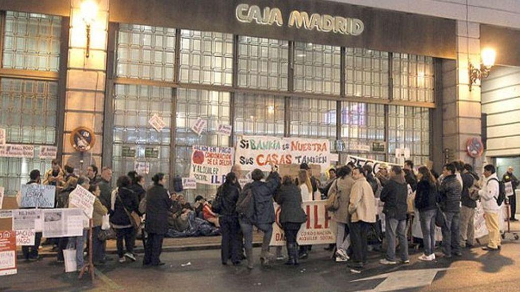 Acampada contra Bankia
