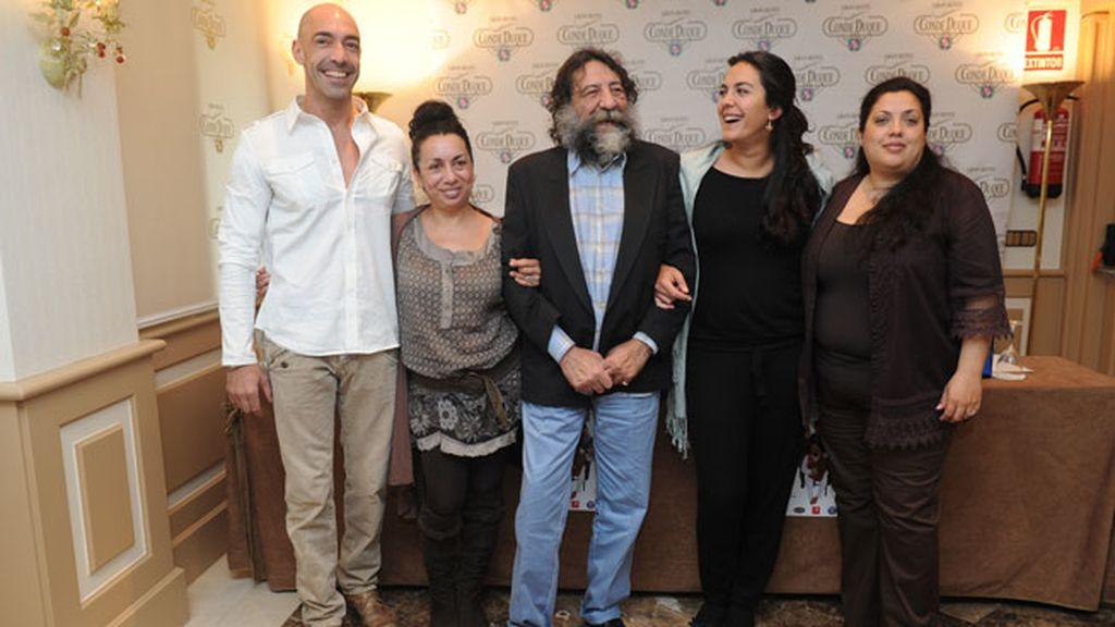 La 'gran familia', incondicional de Manuel Molina