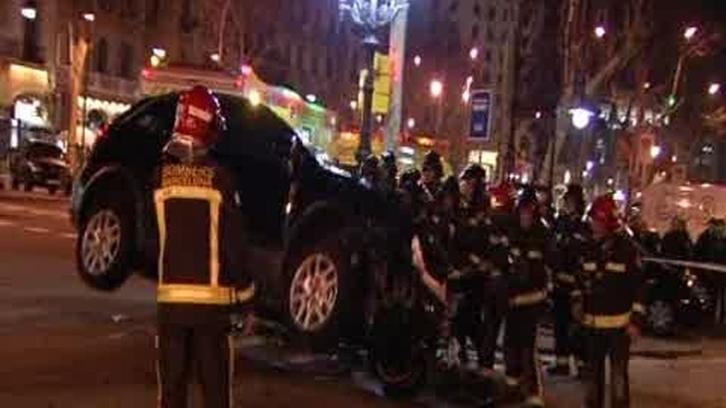 Impresionante accidente de tráfico en Barcelona