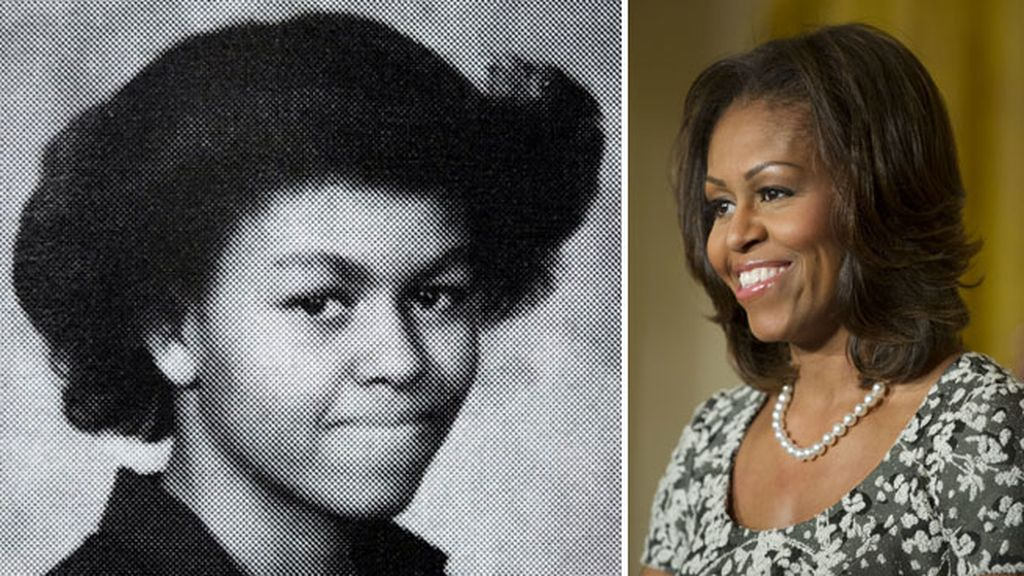 Michelle Obama en su anuario