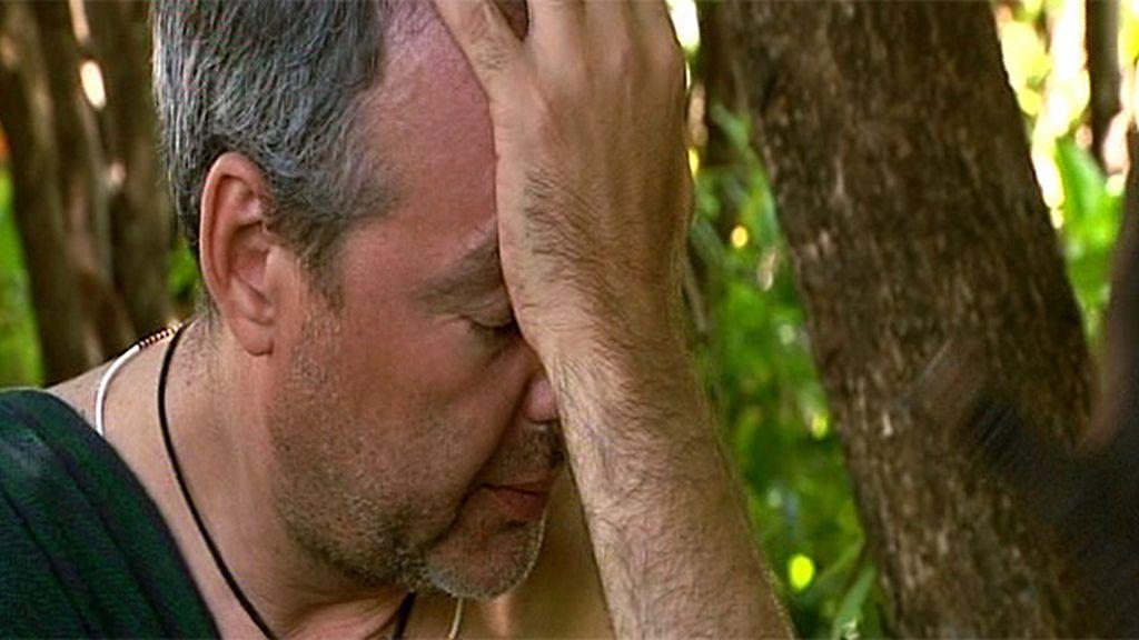 José Manuel no pudo contener las lágrimas