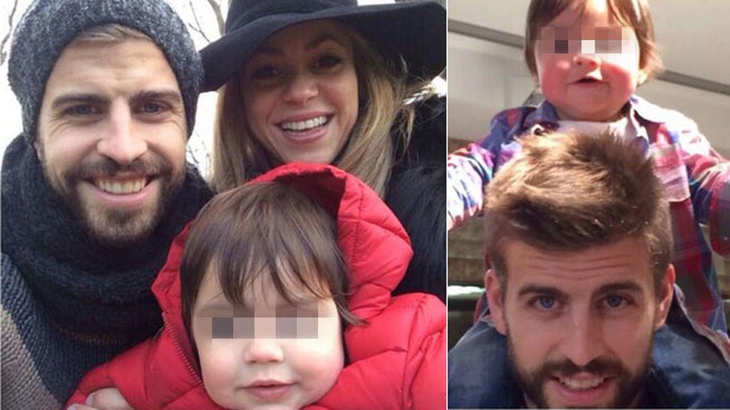 Shakira, Piqué y Milan de vacaciones londinenses