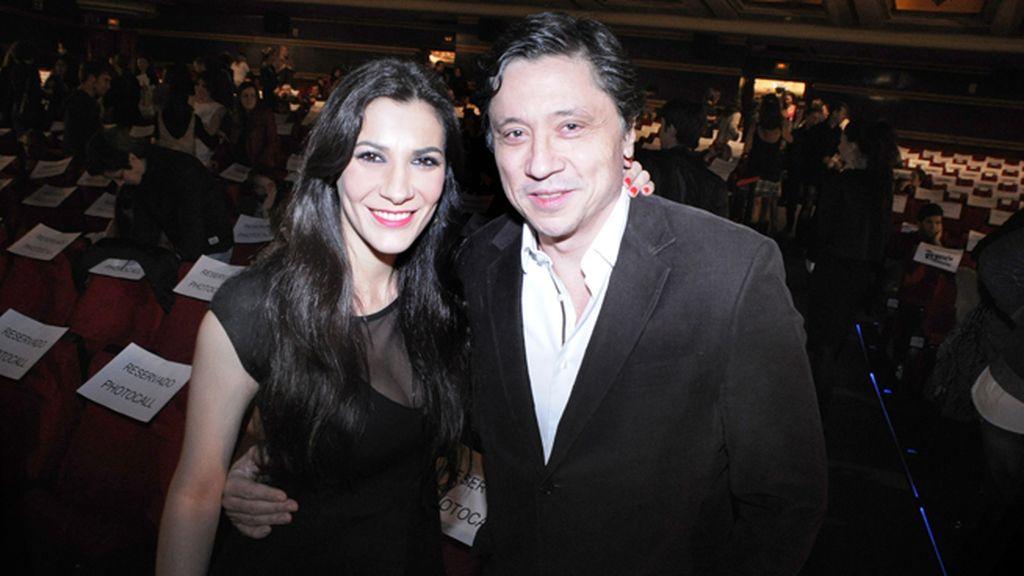 Carlos Bardem y su novia Cecilia Gessa