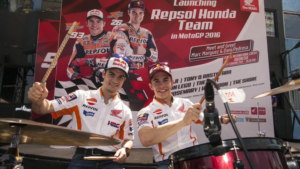 Presentación del Repsol Honda en Indonesia