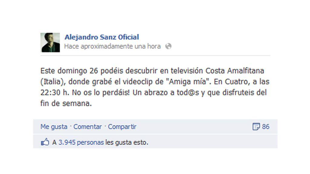 Alejandro Sanz Facebook