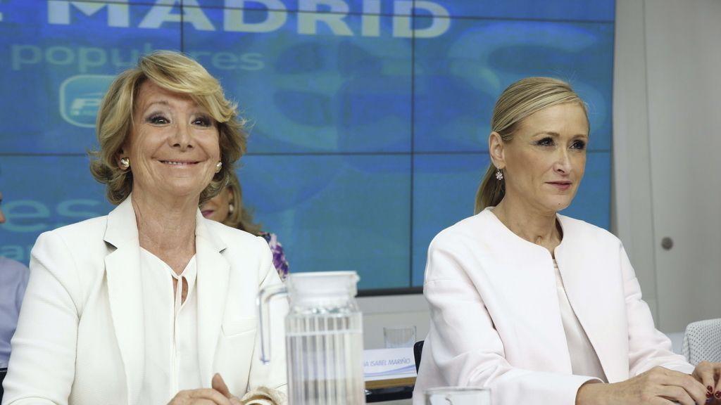 Esperanza Aguirre y Cristina Cifuentes, en el Comité Ejecutivo regional del PP