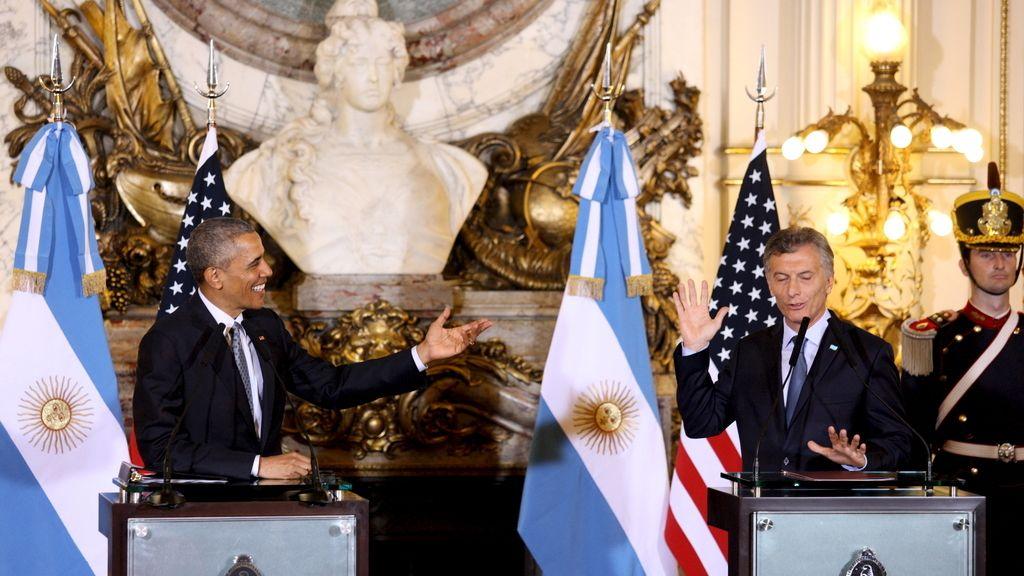 """Obama y Macri abogan por abrir """"una nueva etapa"""" con esta """"transición histórica"""""""