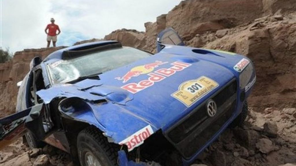 Sainz destroza su Volkswagen