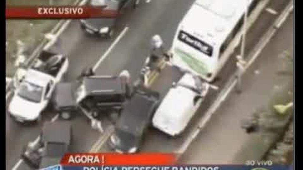 Espectacular persecución en Sao Paulo