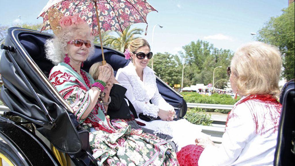 Doña Cayetana era fiel a su cita con la Feria de Abril sevillana
