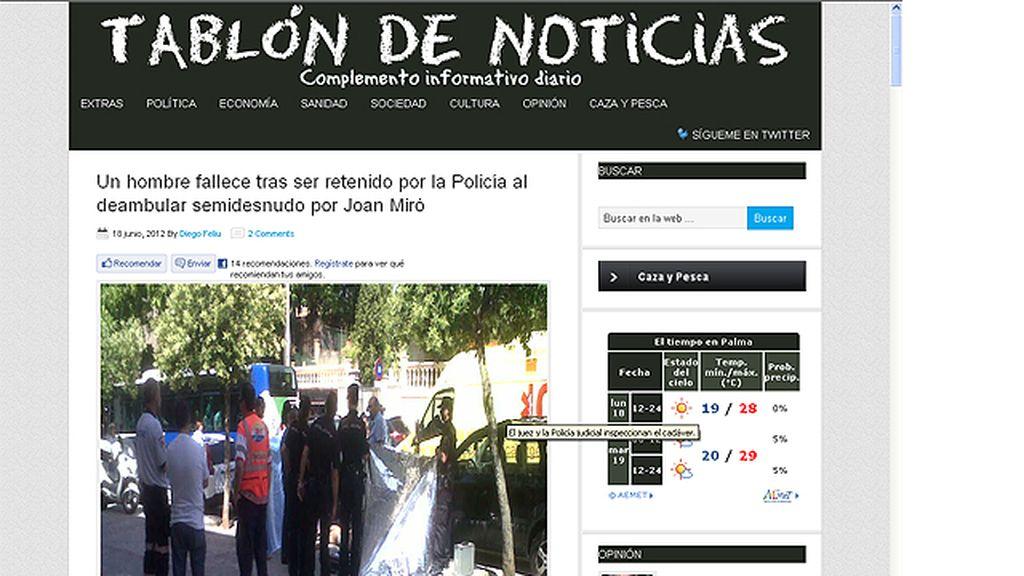 Fallece un hombre en Palma mientras es inmovilizado por la policía