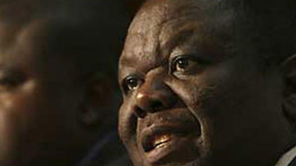 El líder del principal partido opositor en Zimbabue, Morgan Tsvangirai. Foto: AP.