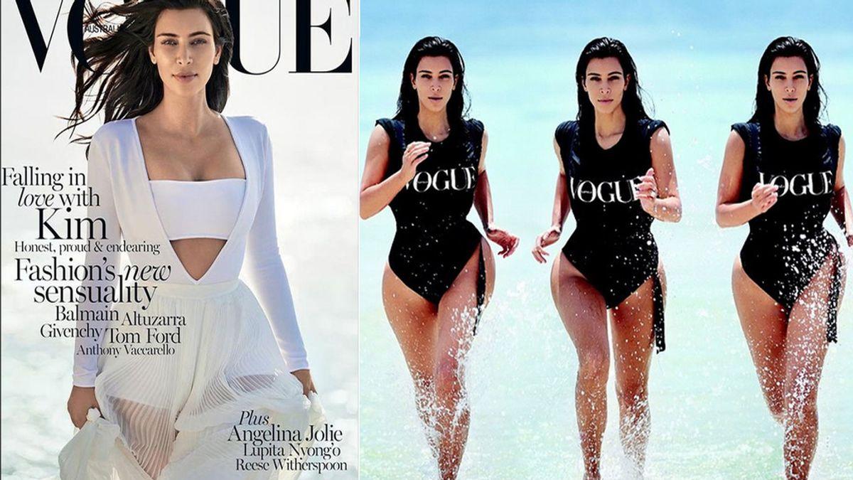 Kim Kardashian espectacular en la portada de Vogue Australia