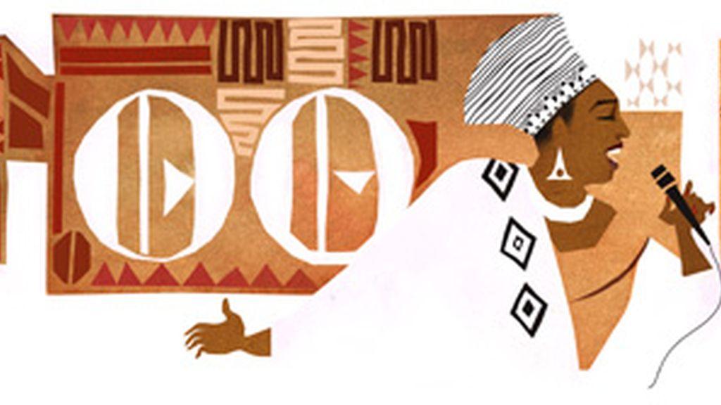 Miriam Makeba en el doodle de google