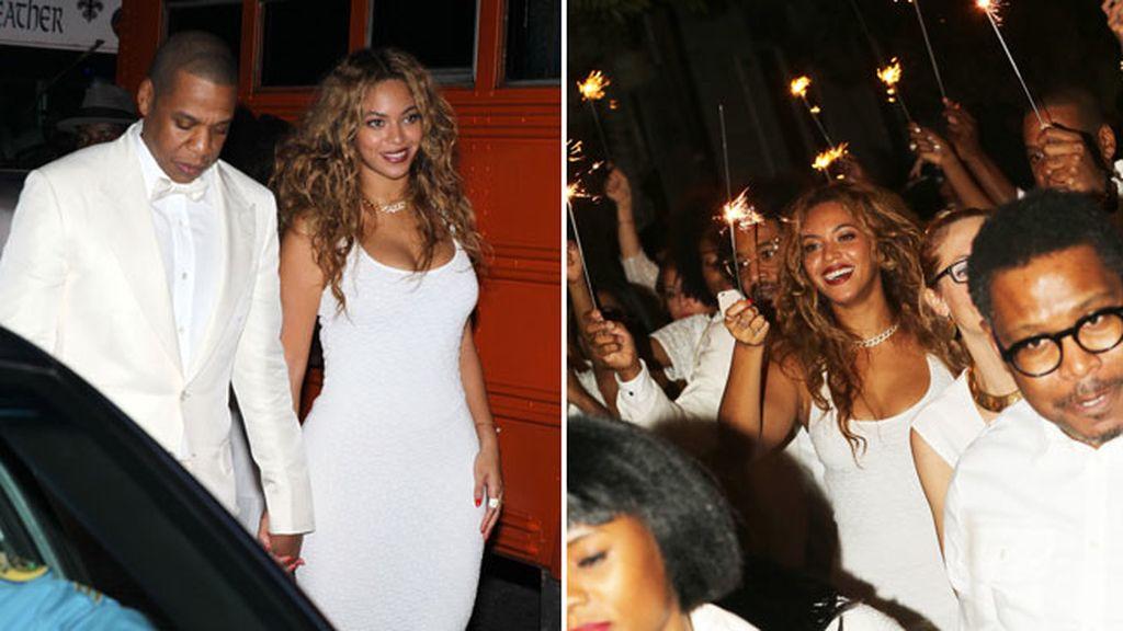 Beyoncé disfrutó en la divertida fiesta