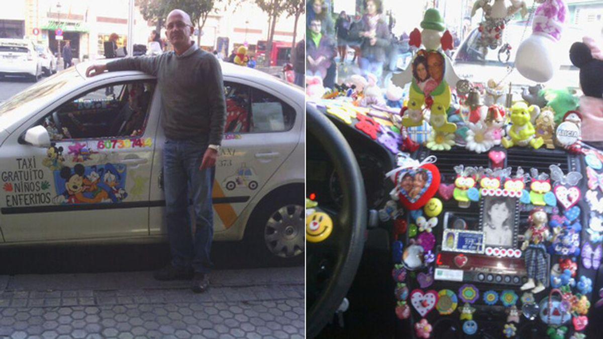El taxi gratuito de Rafa, un mundo de fantasía para niños con cáncer