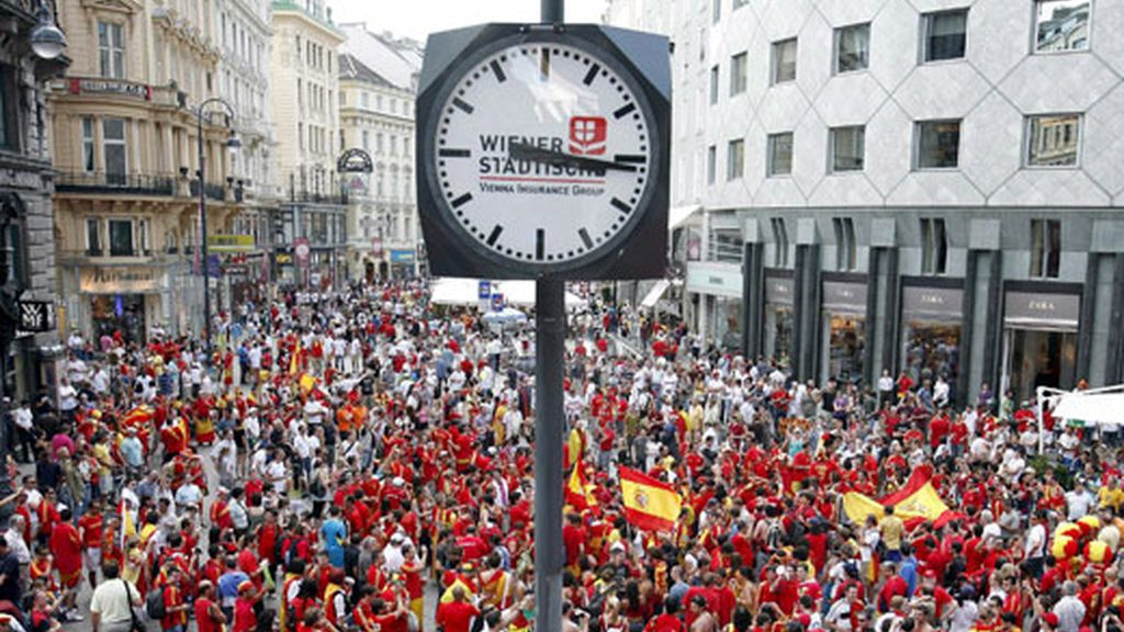 Ambiente previo en Viena. Foto: EFE