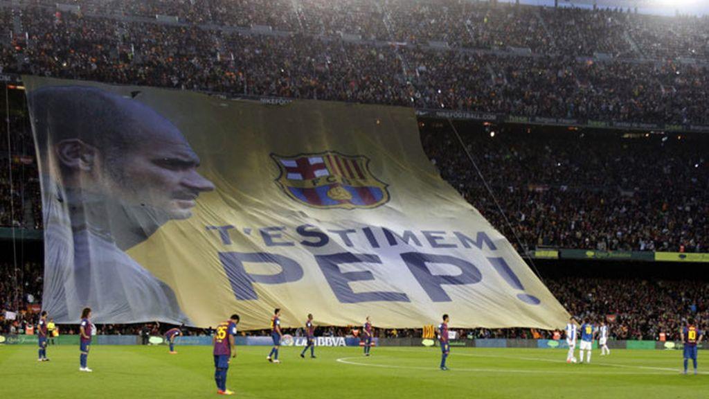 Despedida a Guardiola en el Camp Nou