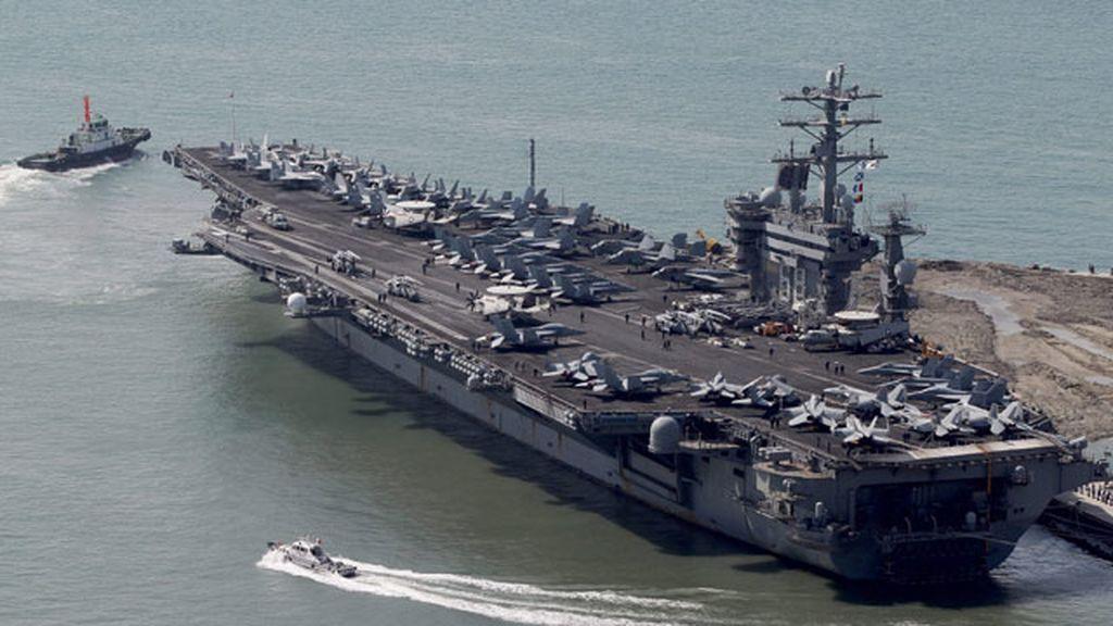 Barco de guerra de EEUU que se dirige a Siria