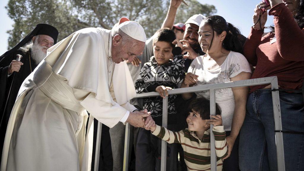 El Papa Francisco en la isla de Lesbos