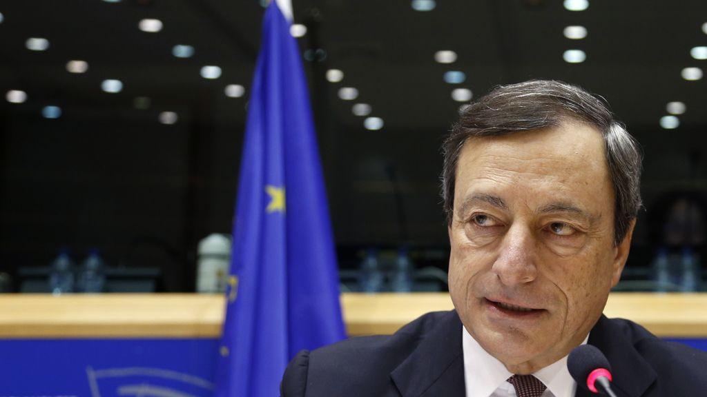 Mario Draghi durante una intervención en el Parlamento Europeo