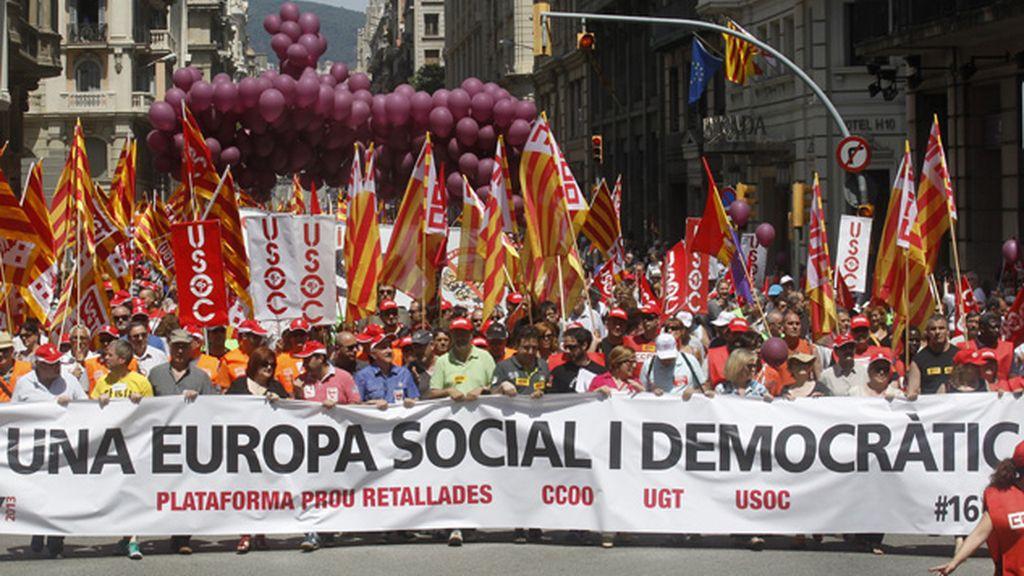 Manifestaciones por un cambio en las políticas económicas europeas