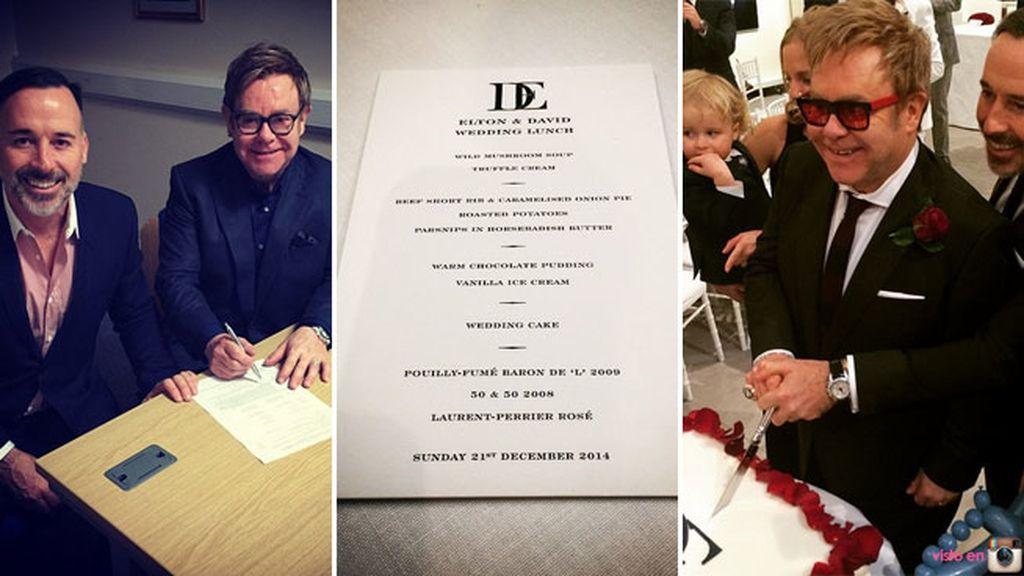La pareja, junta desde hace 21 años, se ha casado en su finca de Windsor