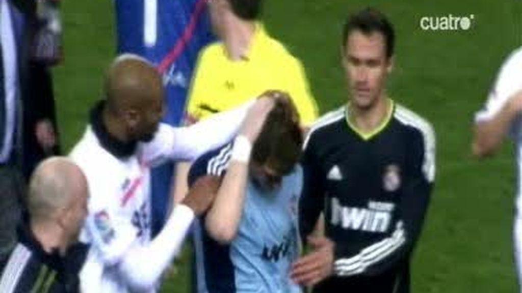 Casillas sufrió el botellazo de 'un estupido'