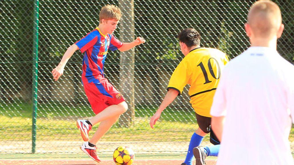 Justin Bieber, de futbolista culé
