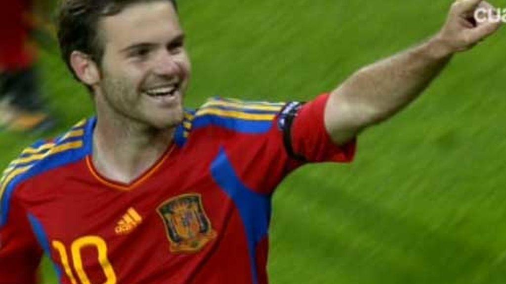 Mata celebra el segundo gol
