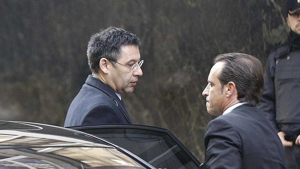 Bartomeu llega a la Audiencia Nacional