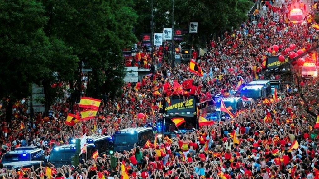 Madrid acompaña a los Campeones del Mundo