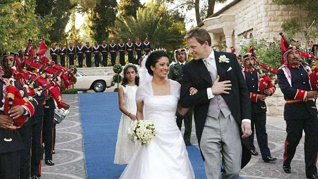 24-06-2005 Princesa Badi'ha de Jordania y Khaled Blair/ Amman