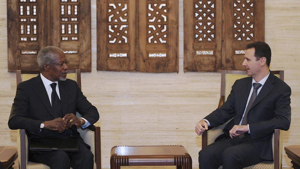 Kofi Annan y Bashir Al Assad