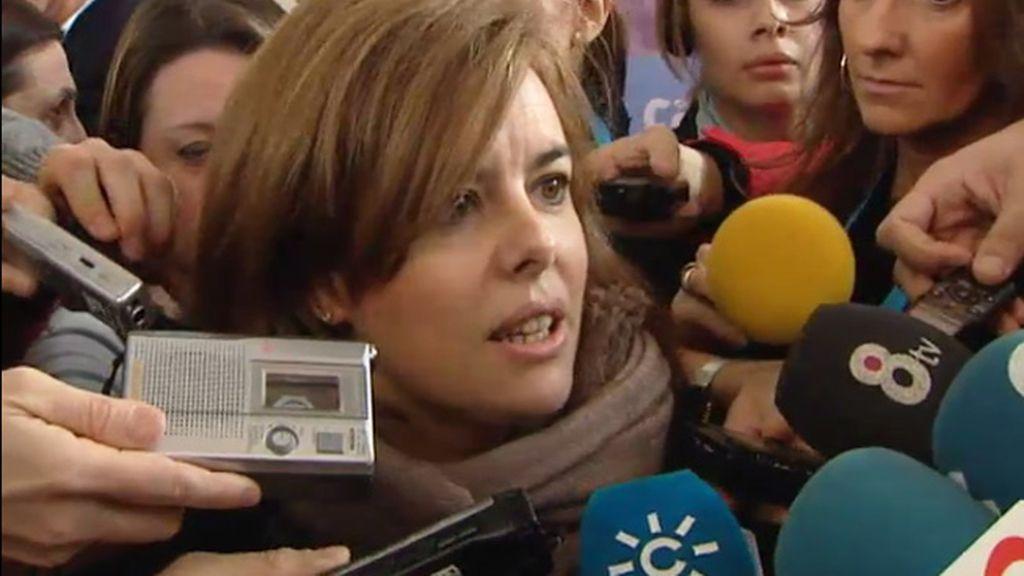 """Sáenz de Santamaría: Se trabajará por el """"consenso"""" en la Ley del Aborto"""