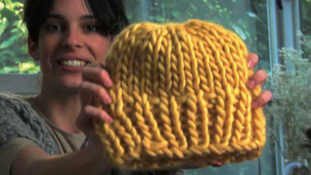 gorro de lana gruesa