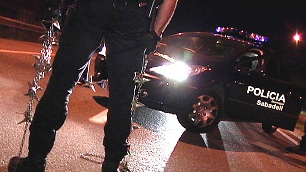 Policía Local de Sabadell durante un control