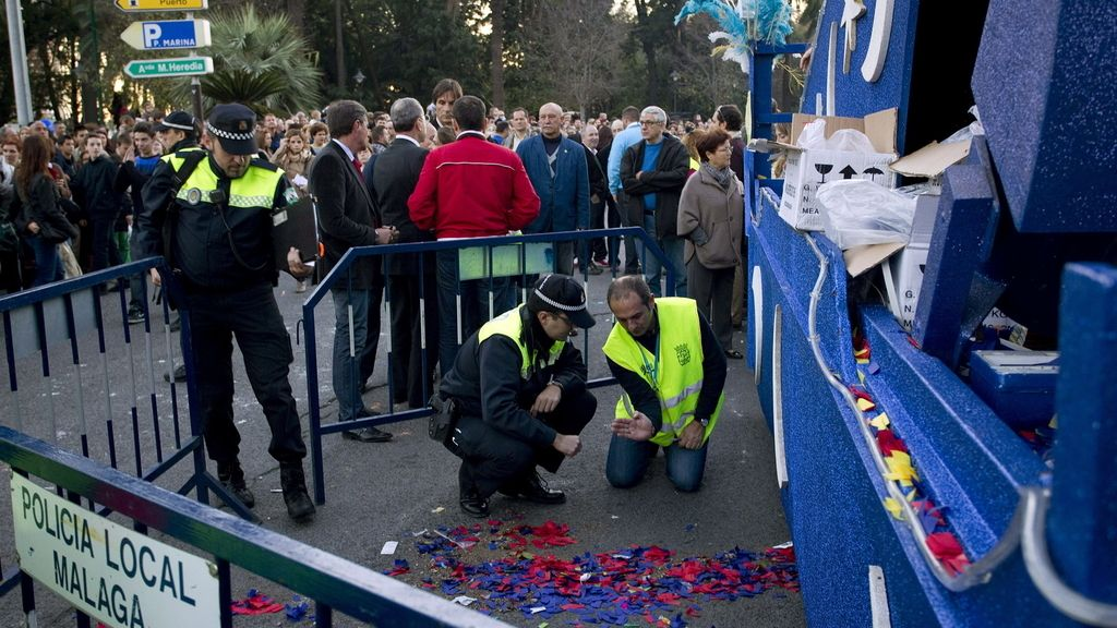 Muere un niño atropellado por una carroza en Málaga