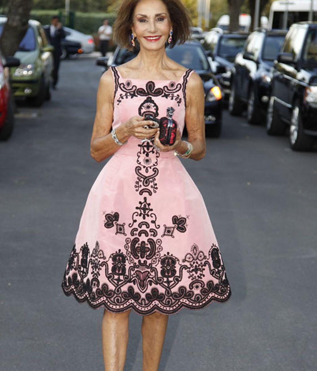 Nati Abascal triunfó con su vestido rosa