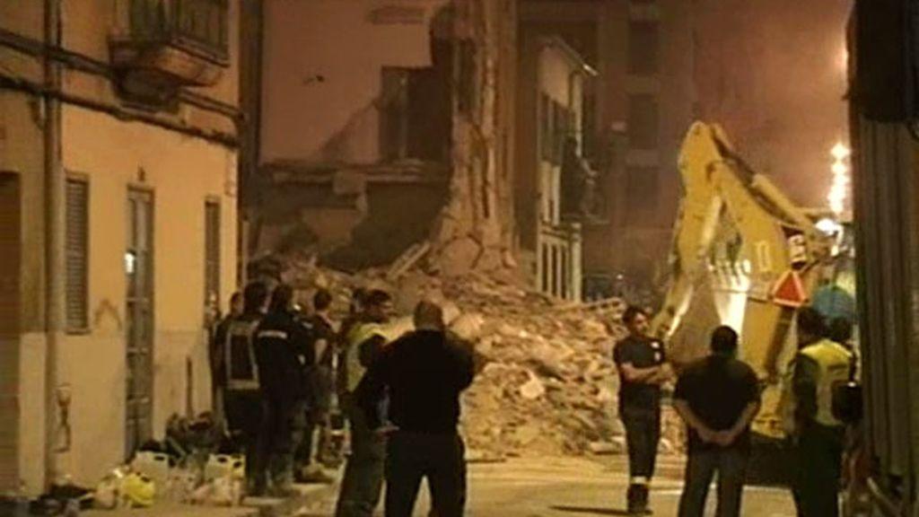 Se derruma un edificio del centro