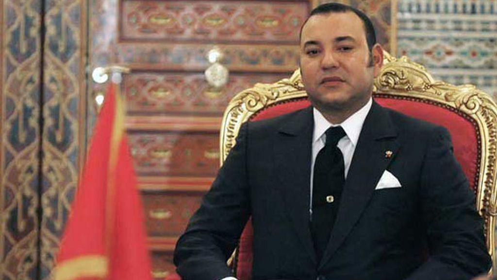 El rey de Marruecos, Mohamed VI, en el Palacio Real