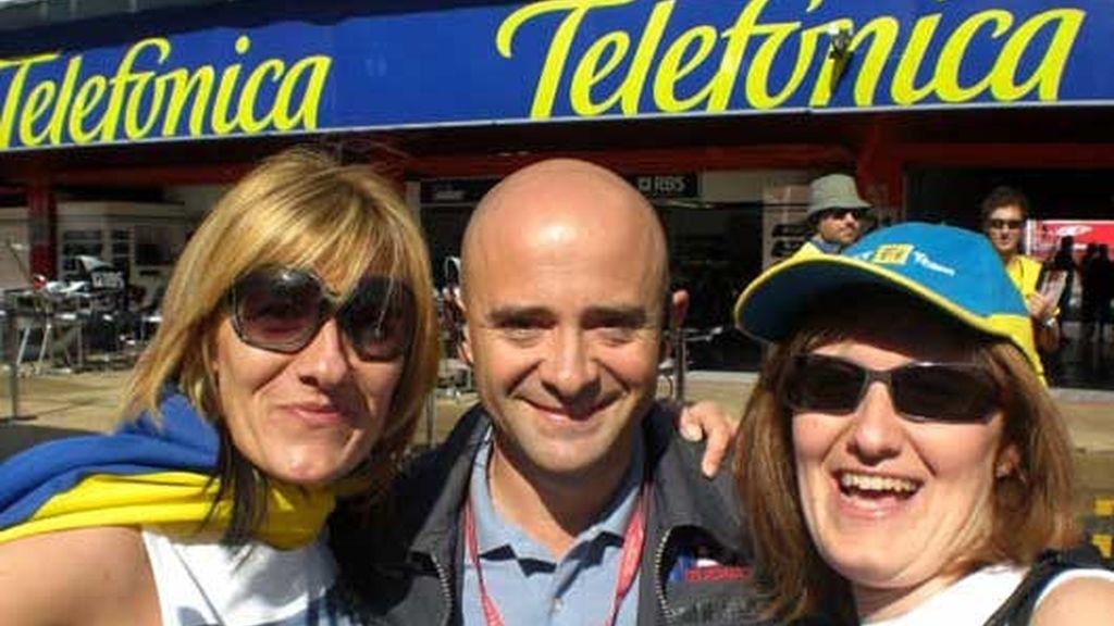 Antonio Lobato disfruta con la F1