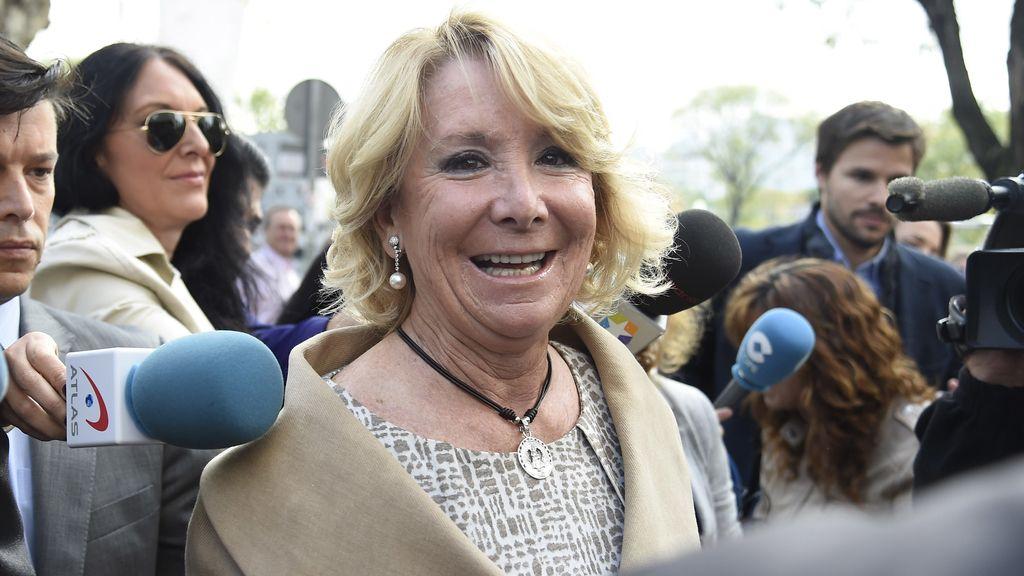 Esperanza Aguirre llega a los juzgados