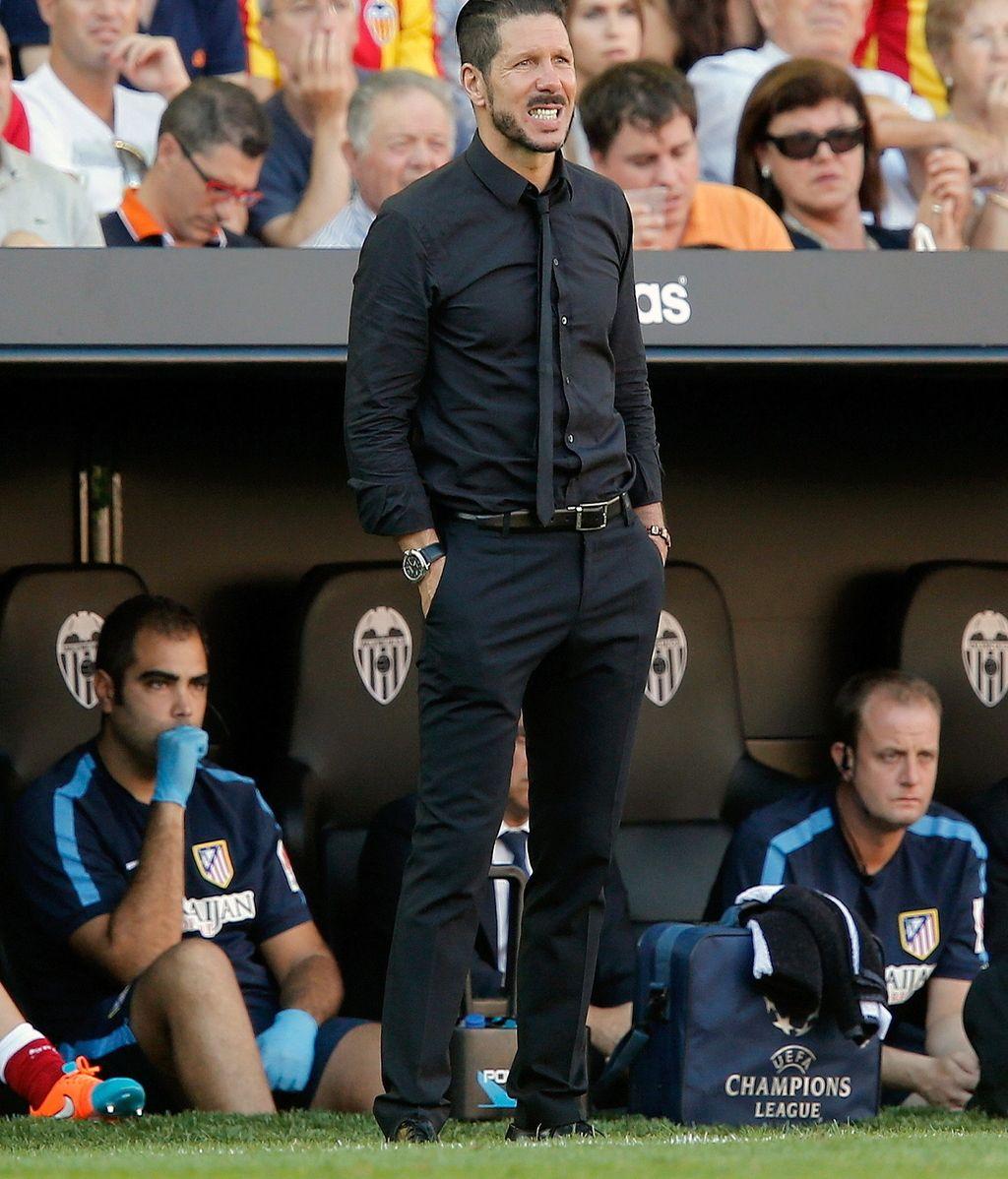 Simeone en el Mestalla