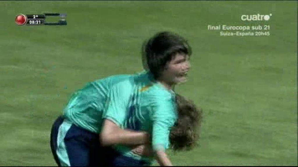 Álex marcó un golazo frente al Málaga