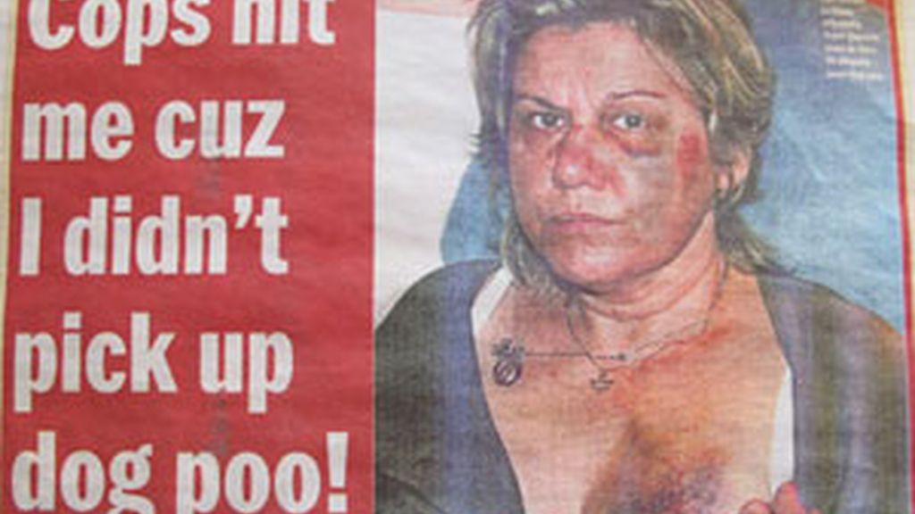 La mujer trató de explicar a los agentes que las heces no eran de su perra. Foto: Daily News.